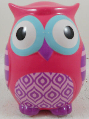Pink Owl Ceramic Bank Coin Girls Child Baby