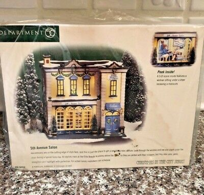 Dept 56 Christmas In The City - 5th Avenue Salon 56.58950  MINT/ sealed in box