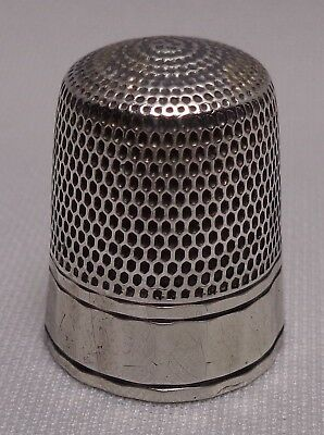 Vintage SIMONS BROTHERS Sterling Silver Thimble  ANTIQUE #10