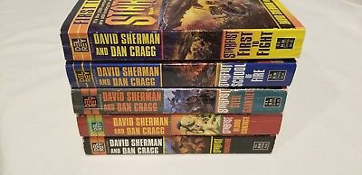 Lot of 5 Science Fiction Books by David Sherman & Dan Cragg..Starfist Series, PB