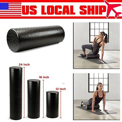 New High Density Foam Roller Muscle Back Pain Yoga Massage Therapy Exercize UY