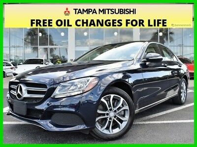 Mercedes-Benz C-Class C 300 ~~ Clean 1-Owner CARFAX  ~~ Stunning Mercedes ~~ 2015 C 300 Used Turbo 2L I4 16V Automatic 4MATIC Sedan Premium