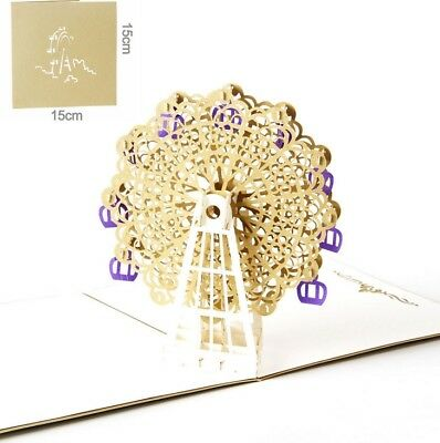 3D Pop Up Card Ferris Wheel Wedding Lovers Gift Creative New Hot Cards