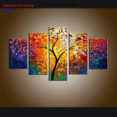 Large Modern Abstract Colorful Oil Painting on Canvas Wall Art Framed Home Decor