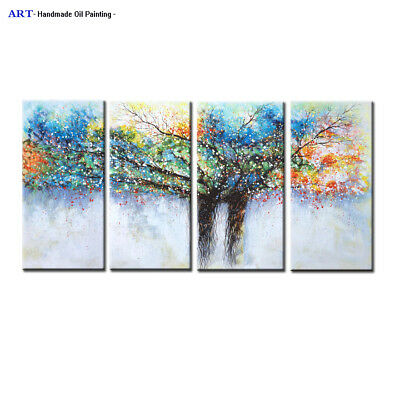 Large Modern Colorful Abstract Oil Painting on Canvas Wall Art Framed Home Decor