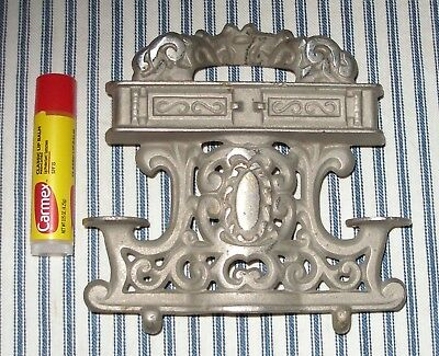 c. 1920 Nickel-Plated Antique Toy Stove Part, Back-Piece, Original