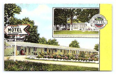Vintage Postcard Beach Motel Highway 90 Biloxi Mississippi B8