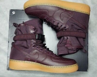 reputable site 8f81d 48c33 New Nike Special Field Air Force 1 Men Size 9 Deep Burgundy Gum Shoe 864024  600