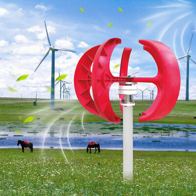 12V 300W VAWT Lanterns Wind Turbine Generator Vertical Axis With Controller 13kg