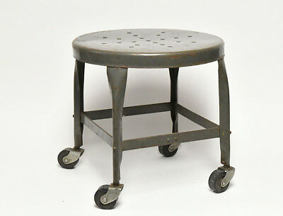 Vintage Industrial Toldeo Stool With Casters