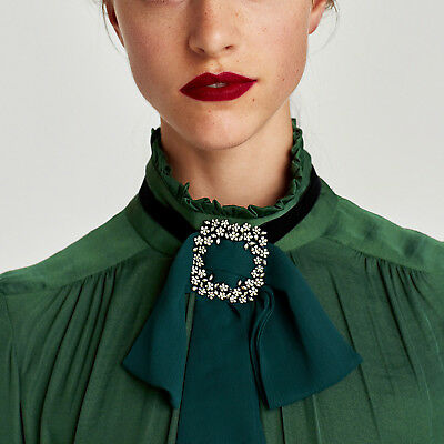 Women Ties Bow Tie Chain Choker Statement Necktie Chunky Collar Pendant Necklace