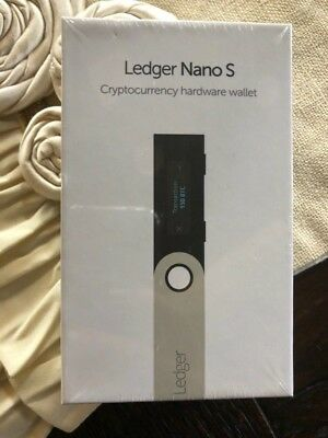BRAND NEW Ledger Nano S Bitcoin Ethereum Altcoin Litecoin Ripple Wallet SEALED