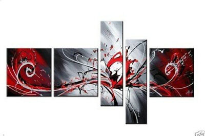 Framed 5 Panel Large Wall Art Abstract Oil Painting on Canvas Modern Art Abs032