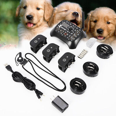 Waterproof Wireless Electric Dog Fence Pet Collar Transmitter Containment System