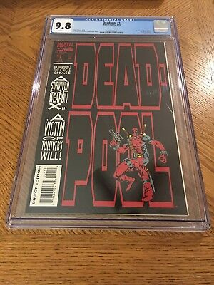Deadpool #1 CGC 9.8 Brand New Clean Case