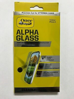 Otterbox Alpha Glass Screen Protector iPhone 11 PRO / XS / X. 100% Brand New.