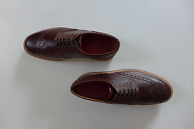 Grenson Archie Chestnut Pull Up Leather Brogue, size UK10 - New with box