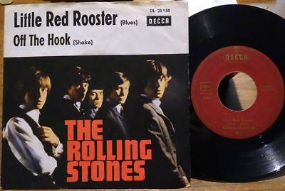 """The Rolling Stones 7"""" Little Red Rooster /Off The Hook Decca DL 25 158 45 Single"""
