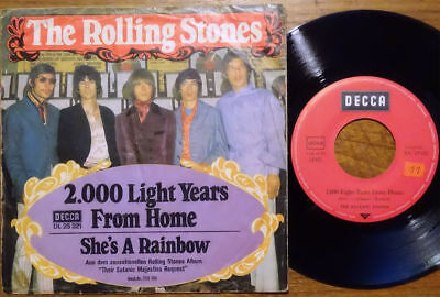"""The Rolling Stones 7"""" 2000 Light Years From Home Decca DL 25 321 45 Single"""