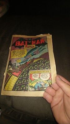 DETECTIVE COMICS #51 [1941] missing cover pages one and two.
