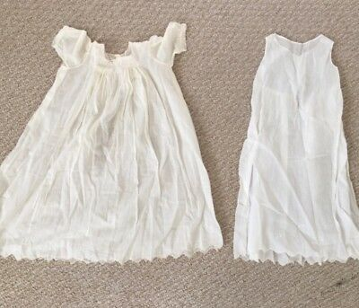Vintage baby christening gown and dress