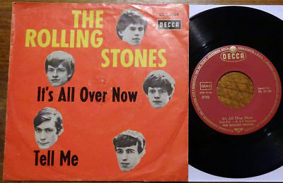 """The Rolling Stones 7"""" It's All Over Now / Tell Me 5 Kopf Decca DL 25 144 Fünf"""