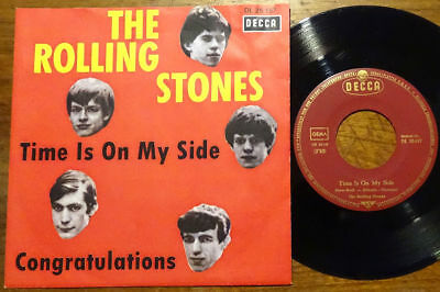 """The Rolling Stones 7"""" Time Is On My Side 5 Kopf Decca DL 25 157 45 Single"""
