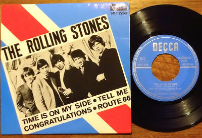 """The Rolling Stones EP Time Is On My Side Decca SDE 7260 Schweden 1964 45 7"""""""