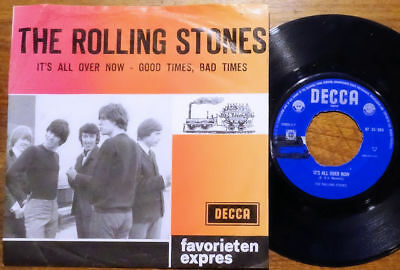 """The Rolling Stones It's All Over Now Favorieten Express Decca AT 14 024 NL 45 7"""""""