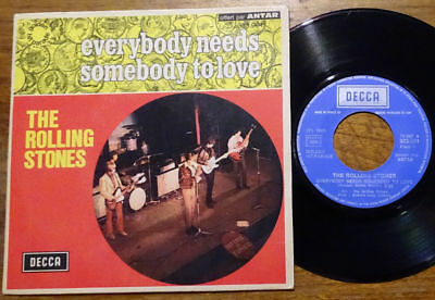 """The Rolling Stones 7"""" Everybody Needs Somebody To Love Decca 333.001 France 1965"""