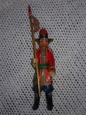 Hand Carved Soldier Figurine/Ornament from Poland