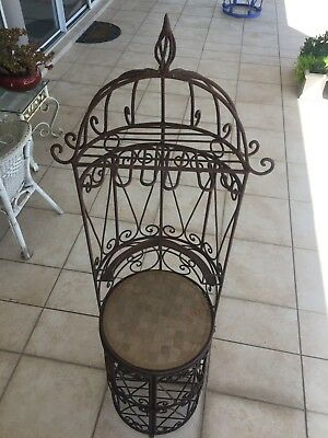 Wrought iron outdoor wine rack - no reserve