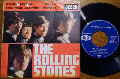 """The Rolling Stones EP It's All Over Now +3 Decca 457.039 M France 1964 7"""" Single"""
