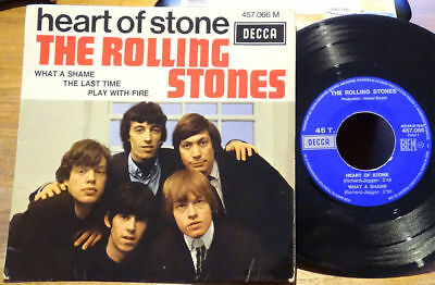 """The Rolling Stones EP Heart Of Stone +3 Decca 457.066 M France 1969 45 7"""" Single"""