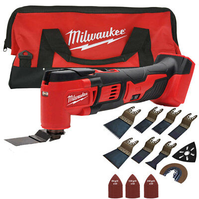 Milwaukee M18BMT-0 M18 18V Multi Tool With Tool Bag & 39pcs Accessories Set