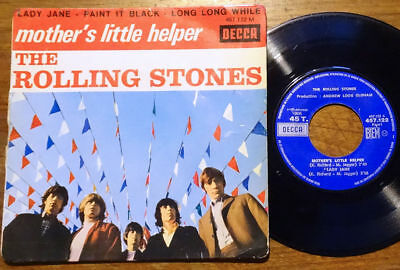 """The Rolling Stones EP Mother's Little Helper+3 Decca 457.122 M France 1966 45 7"""""""