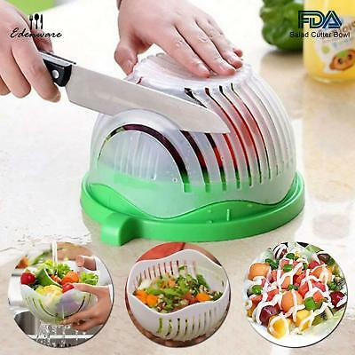 Quick Salad Chopper and Cutter Bowl: Easily Chop Lettuce, Veggies and Fruits to