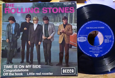 """The Rolling Stones EP Time Is On My Side +3 Decca 457.050 M France 1965 45 7"""""""