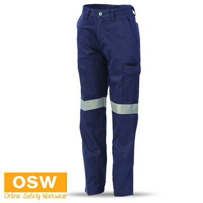 Ladies Cotton Twill Digga Cool-Breeze Cargo Reflective Taped Safety Work Pants