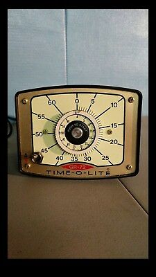 Time-O-Lite Model GR-72 Darkroom Timer with Glow in the Dark Dial