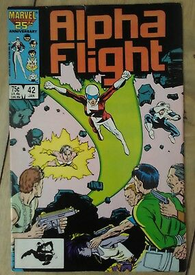 Alpha Flight #42 1987 VF Marvel Comics Purple Girl Beta Flight P&P Discount