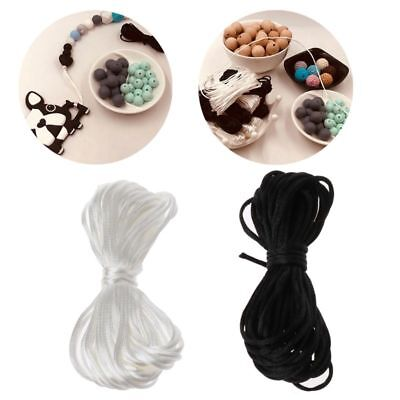 5m 1.5mm Baby Teether Accessories Nylon Cord for Mom Making Teething Necklace