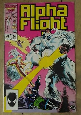 Alpha Flight #44 1987 VF Marvel Comics Purple Girl Snowbird P&P Discount