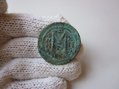 Ancient Roman or Byzantine a large bronze coin.