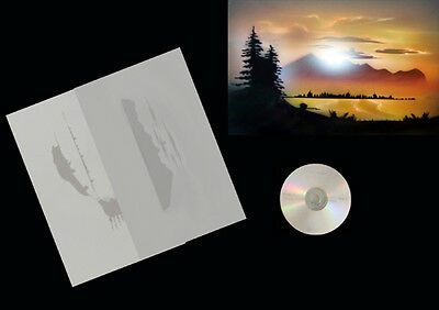 Step by Step Airbrush Schablone / Stencil 0578 Landschaft 1 & Anleitungs CD