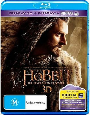 Hobbit - The Desolation of Smaug 3D (Blu-ray, 2014, 4-Disc Set)