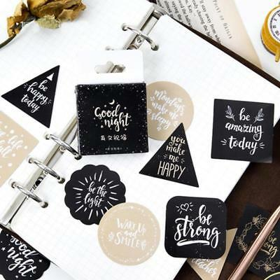 45Pcs Greetings Text Stickers Scrapbooking Diary Album DIY Decoration Stationery