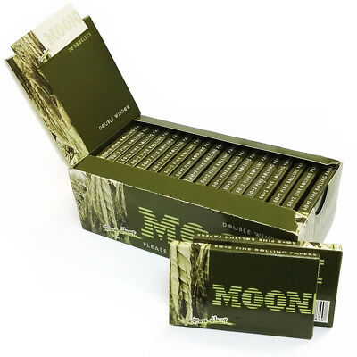 1 box 20 booklets MOON PURE HEMP cigarette tobacco rolling papers DOUBLE WINDOW