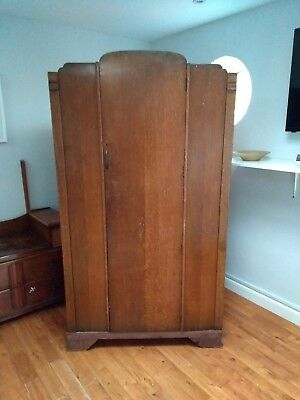 Vintage Antique Gentleman's Tallboy Wardrobe