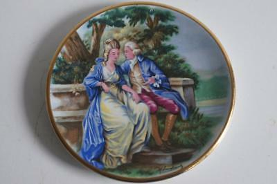 A Lovely Small Harry Hancock Tunstall Ltd Staffordshire Plate Courting Couple 3.